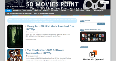 Sdmoviespoint Homepage Screenshot