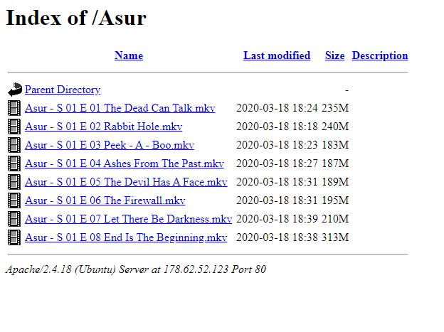 Index of Asur webpage image