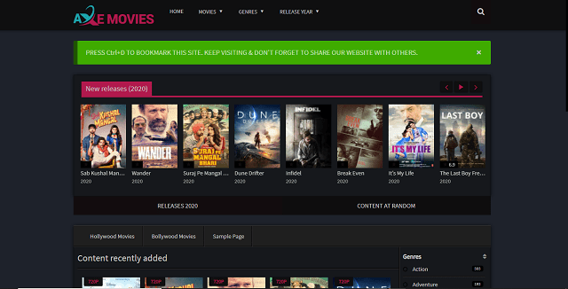 Axemovies movies free download website Homepage