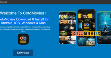 CotoMovies App and Apk for Android, iOS, Windows and Mac Homepage