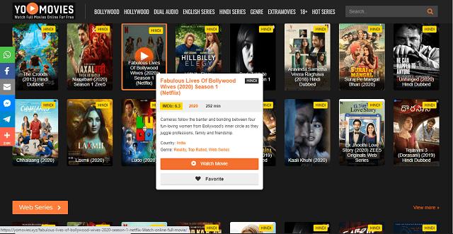 Yomovies Homepage