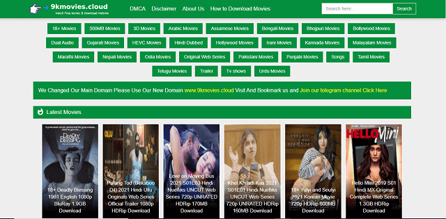 9kmovies, 9kmovie, 9k movies, or 9kmovies.com website homepage