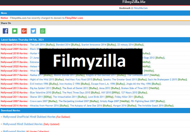 Filmyzilla Hollywood and Bollywood Movies Download in Hindi 2021