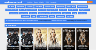 Moviespapa Website Homepage